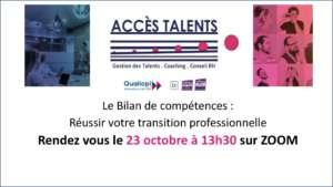 webinaire bilan de compétences accès talents